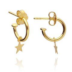 Nos encanta las estrellas 😍 Brilla como una estrella 🌟  www.joyeriahago.com  #pendientesestrellas #pendientes #aros #joyas