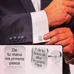 Gemelos personalizados 🤵♂️ www.joyeriahago.com  #gemelos #boda #novios