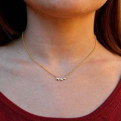 Gargantilla  plata chapado en oro 🌟✨💫  www.joyeriahago.com